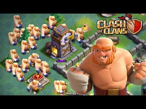 Clash of Clans LE NOUVEAU GEANT LA MEILLEURE TROUPE DU JEU !   COMPO 3 ETOILES