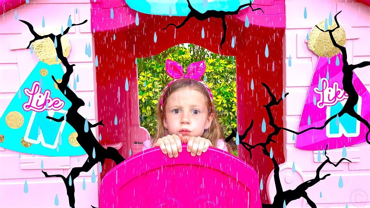 Nastya aprende sobre o clima e desastres naturais
