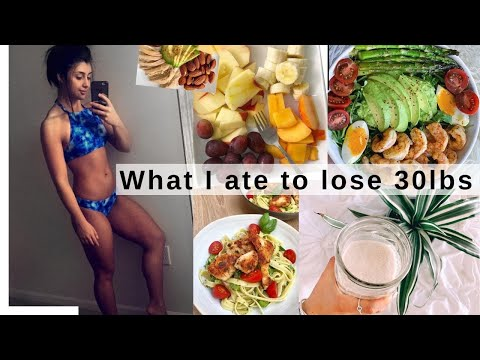 WHAT I ATE TO LOSE 30 LBS IN TWO MONTHS!! How To Lose Weight! | TheSarahSalvini