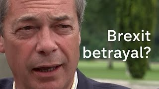 Brexit: Nigel Farage says he's worried about backsliding on Leave campaign promises