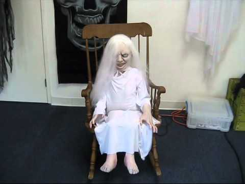 Ghost Girl Animated Halloween Prop Rental  San Diego Kids