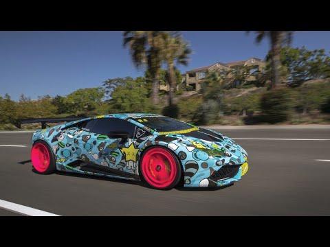 Lamborghini Huracan Wrapped In BAPE Baby Milo