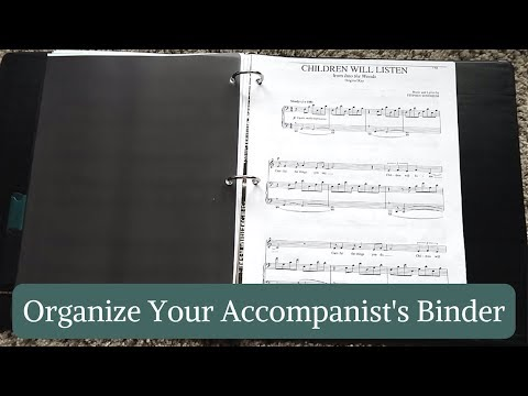 How To Organize Your Audition Binder