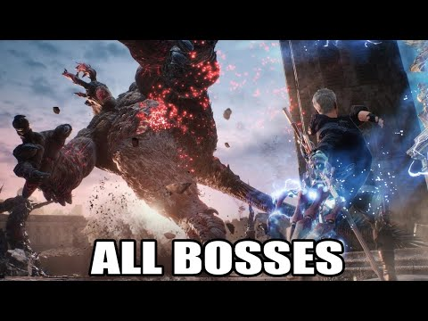 Devil May Cry 5 - All Bosses (With Cutscenes & Ending) HD 1080p60 PC