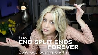 How To End Split Ends Forever - Without Losing hair Length