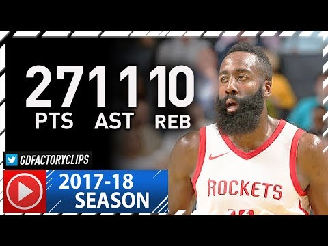 James Harden Triple-Double Full Highlights vs Hornets (2017.10.27) - 27 Pts, 11 Ast, 10 Reb