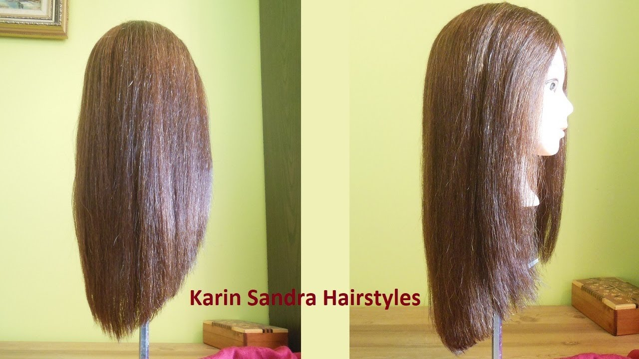 long v haircut without
