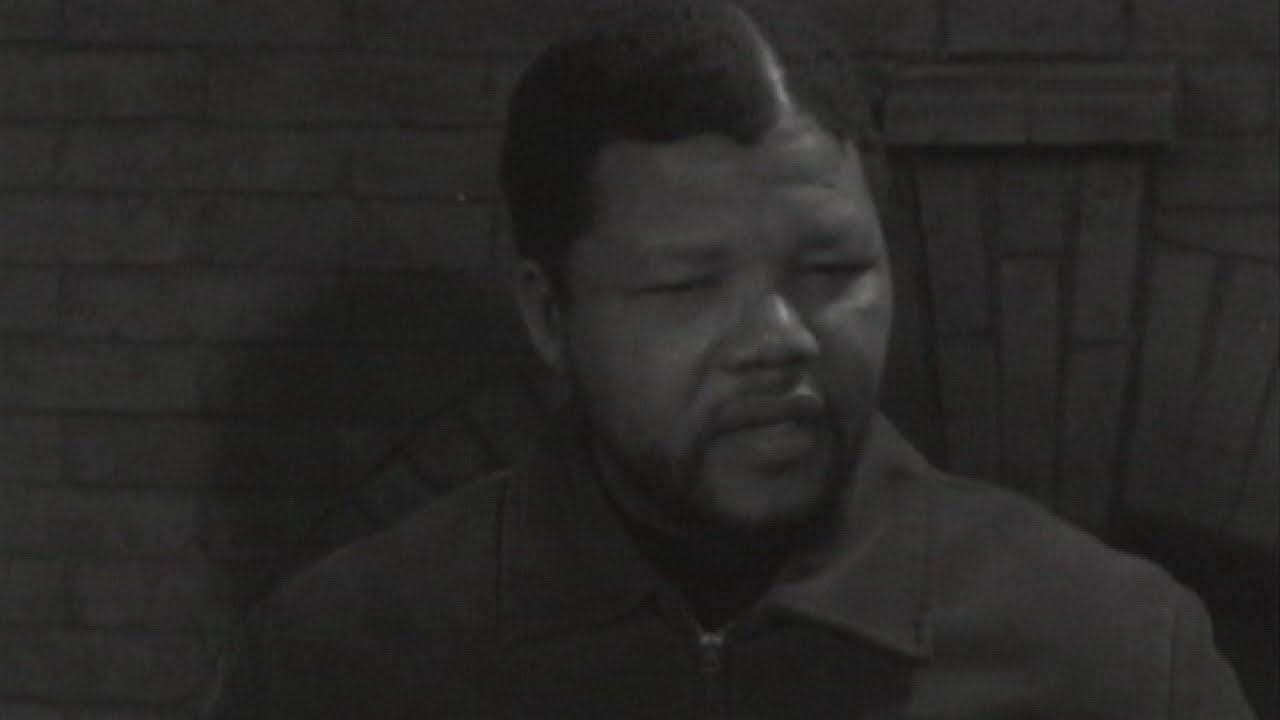 Nelson Mandela's first TV interview in 1961 by ITN reporter Brian Widlake