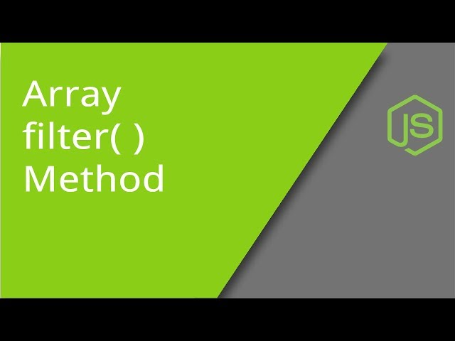 JavaScript Array filter method
