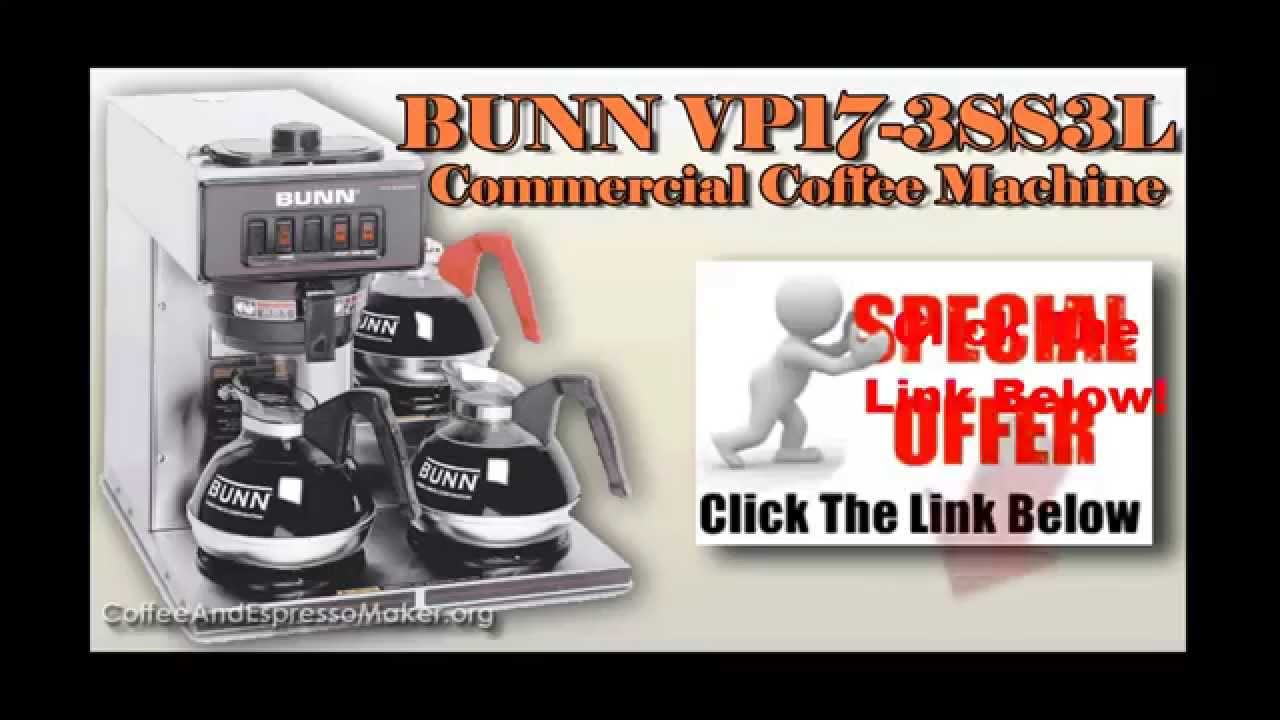 commercial coffee machines bunn vp173ss3l pourover commercial coffee brewer - Bunn Commercial Coffee Maker
