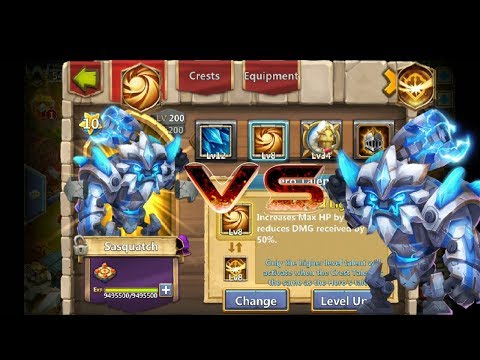 8 Survival | VS | 8 Sacred Light | Comparison | 12 Skill | Sasquatch | Castle Clash