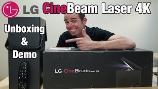 LG CineBeam 4k Projector HU80KA - Unboxing Overview & Demo