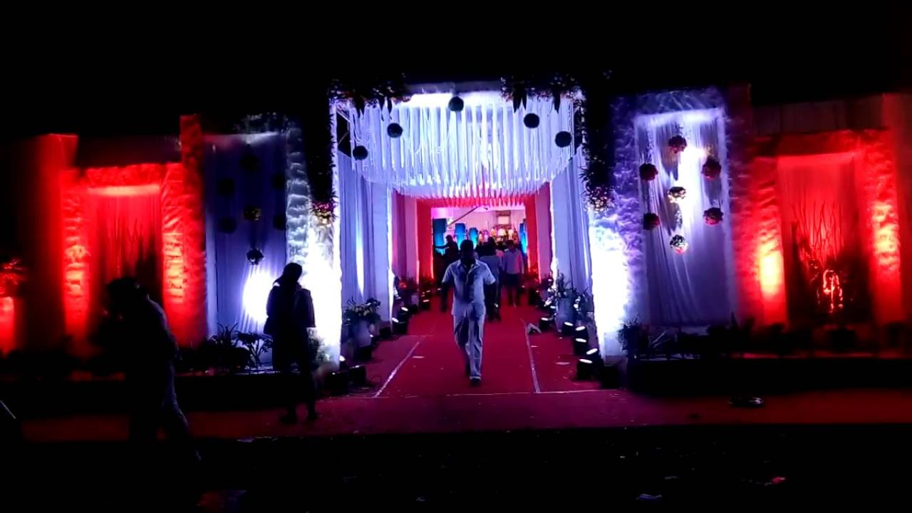 Wedding Entry Gate Lighting Decoration Wedding Planners