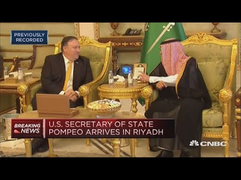 US Secretary of State Pompeo visits Saudi Arabia after journalist disappearance | Squawk Box Europe