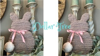 Dollar Tree Yarn Bunny Wreath Decoration DIY