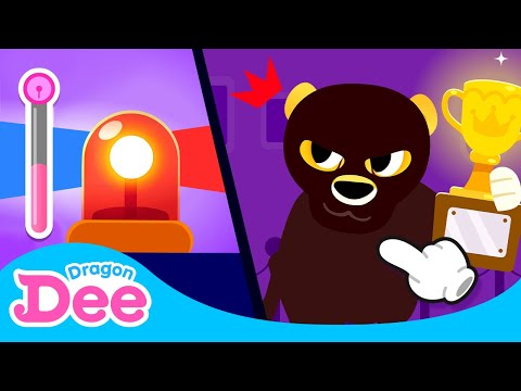 Catch the Thief Cheetah! Game 🐆 🚨| Chasing Game Baddie vs. Dragon Dee for Children |