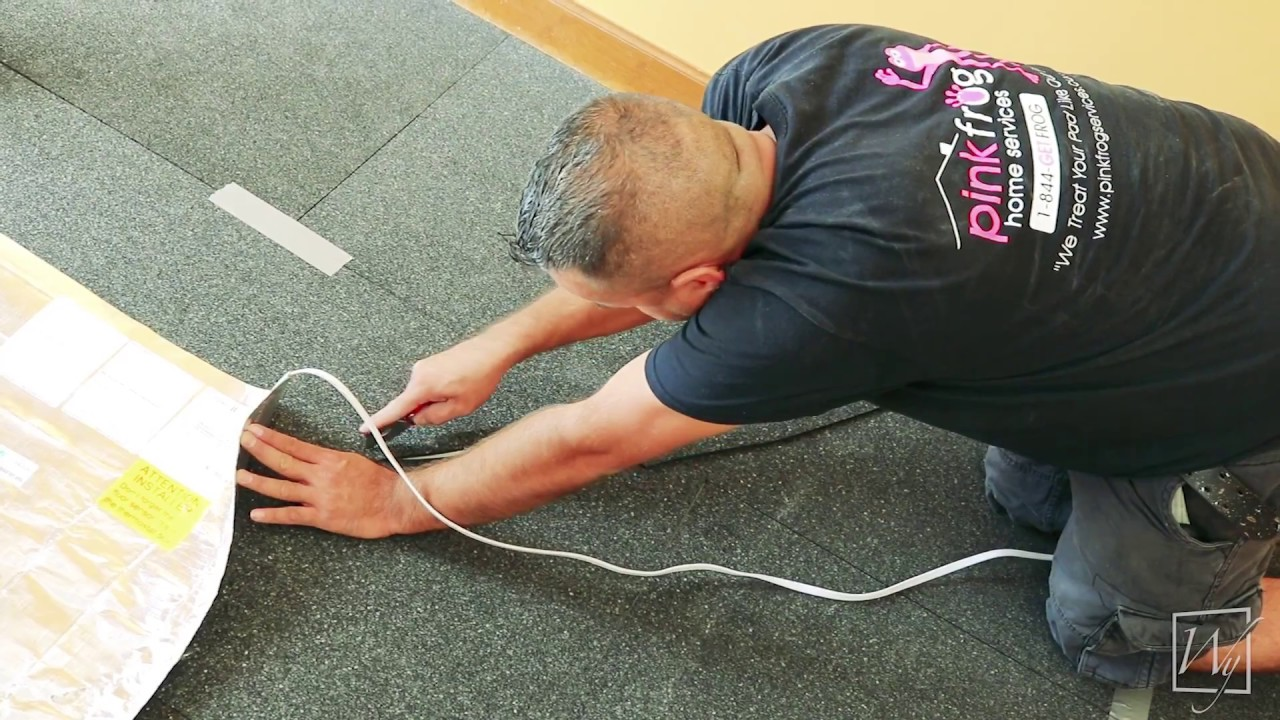 Installing Electric Floor Heating Under A Floating Wood Floor YouTube - Mate flex flooring