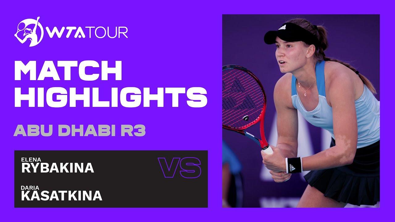 Elena Rybakina vs. Daria Kasatkina | 2021 Abu Dhabi Third Round | WTA Highlights