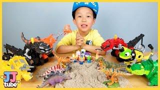 다이노트럭 친구들! 뽀로로의 공룡 친구들을 구해줘!! Dinotrux Toy & Play [제이제이 튜브-JJ tube]