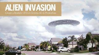 Alien Invasion Part 1: Cinema 4D & Photoshop Tutorial