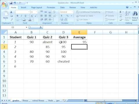 how to work out mean on excel