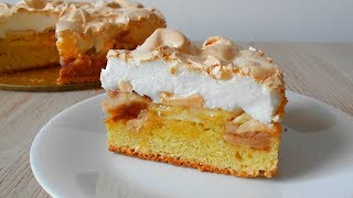 Пирог с яблоками и меренгой .Вкуснейший яблочный десерт!