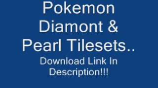 Pokemon Diamond & Pearl Tilesets. Download Link In Description!!!!