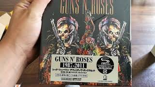 Unboxing BOX SET Guns N' Roses 1987-2011 (9CD+2DVD) JAPAN