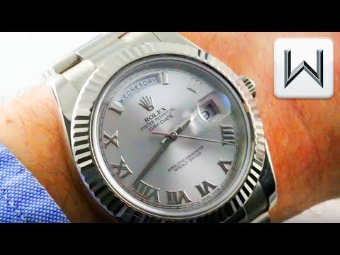 Rolex Day Date II 41mm White Gold  218239 Oyster Perpetual Luxury Watch Review