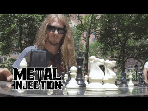 Aaron of BLACK FAST Challenges NYC Hustler To A Game of Chess | Metal Injection