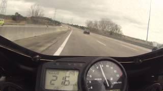 Cbr 954 top speed - 299 km/h