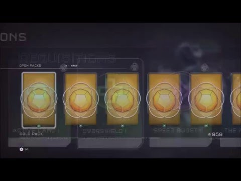 Halo 5 Guardians MEGA Gold REQ Pack Opening Over 50 REQ'S