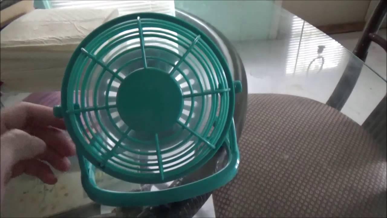 Battery Operated Desk Fan : Trueliving inch battery powered desk fan running on