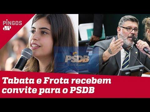 Tabata Amaral e Alexandre Frota no PSDB?