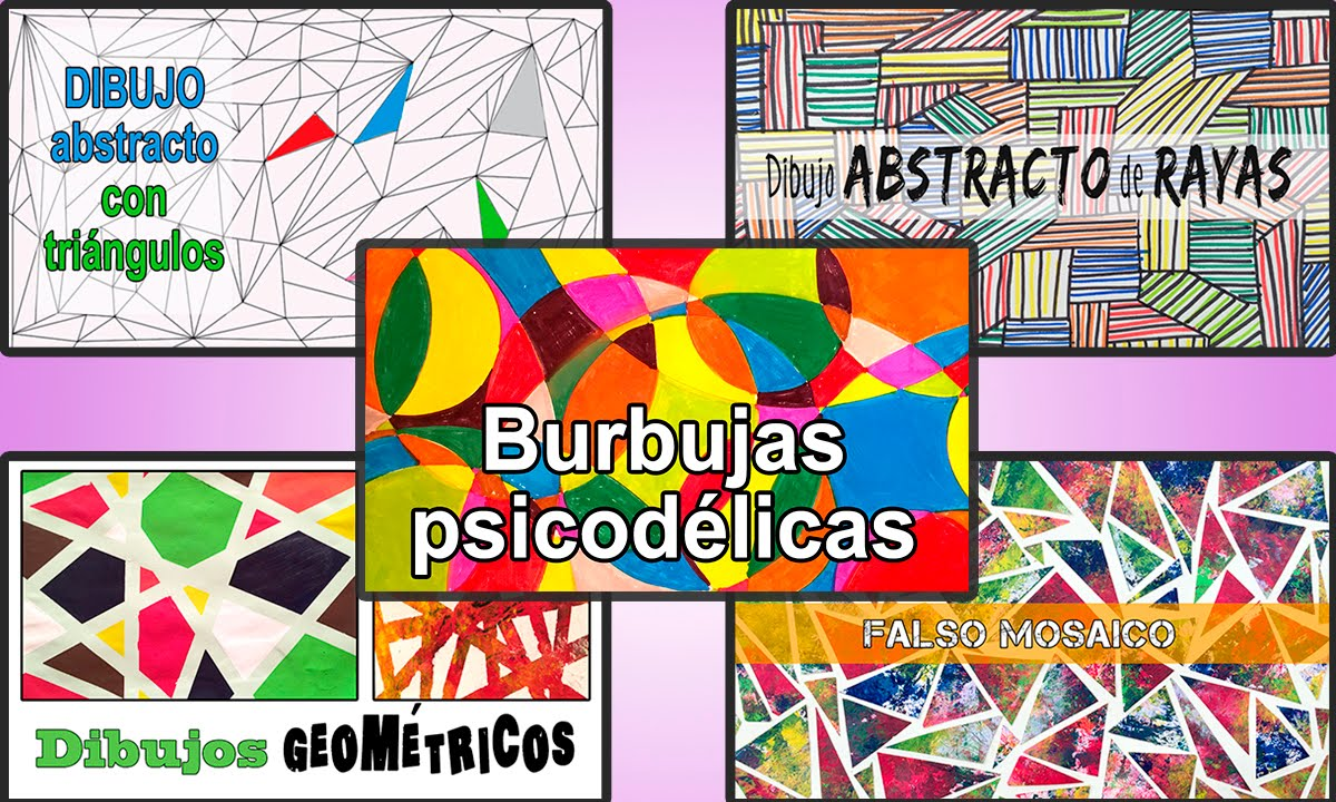 5 DIBUJOS geométricos fáciles y divertidos - YouTube