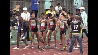 日本チーム予選1着に大歓声!  世界リレー 男子4x400mR予選2組 World Relays 2019(ウォルシュ-井本-佐藤-若林)
