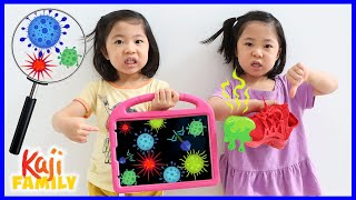 Big germs growing on iPad! Growing bacteria science experiment for kids at home!!