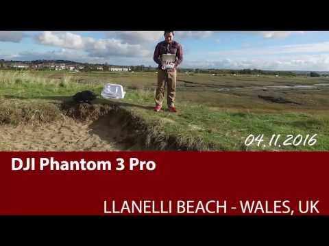 Drone Flying over Llanelli Beach