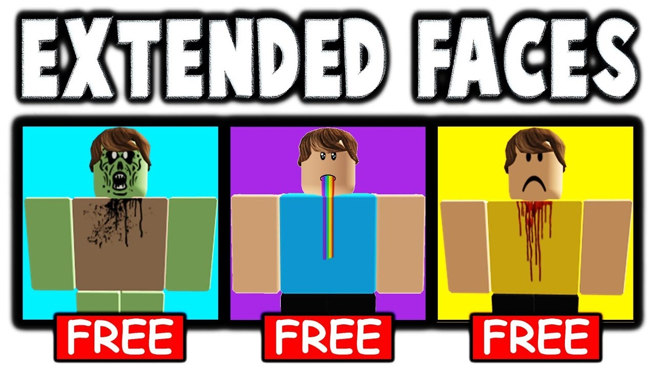 How To Get Extended Faces In Roblox For Free Youtube
