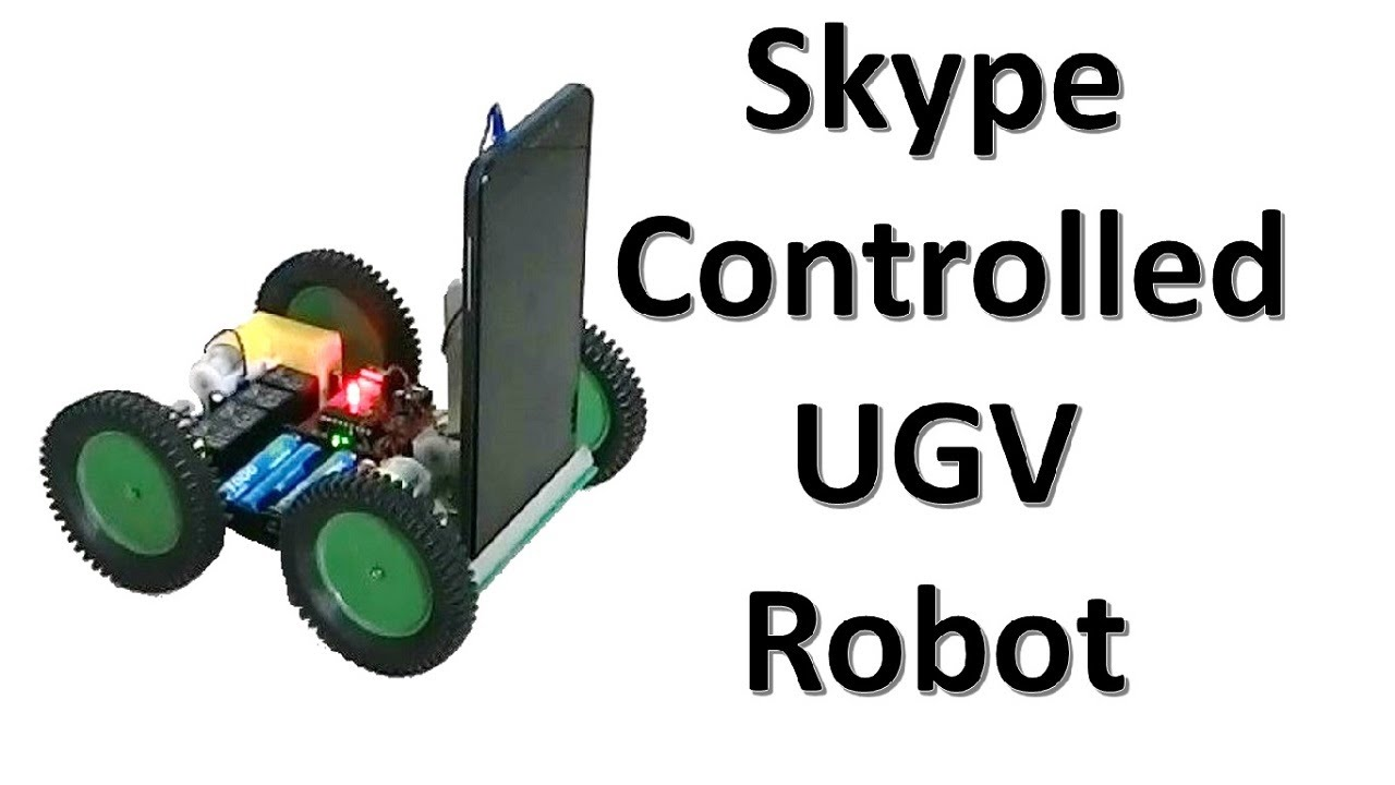 How To Make A Skype Controlled Ugv Diy Spy Robot Iot Project Dtmf Based Fm Remote Control Circuit Electronic Projects Youtube