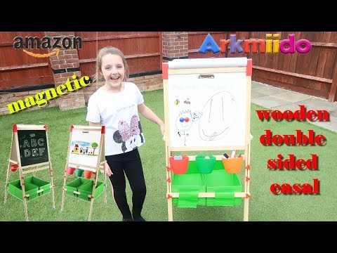 WOODEN MAGNETIC DOUBLE SIDED EASEL ARKMIIDO #GIFTED