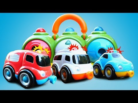 Auttaja-autojen tarinat lapsille. Paloauto ja poliisiauto. Lasten autot ja kuormurit.