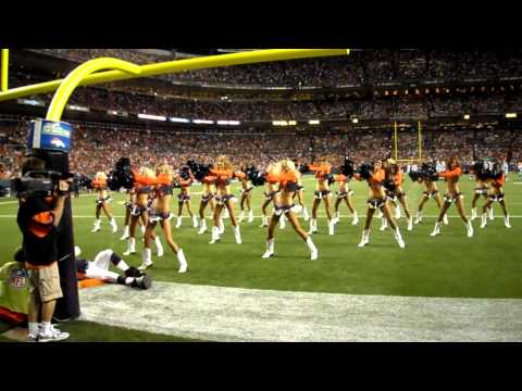 "Denver Broncos Cheerleaders perform ""Boots and Boys"""