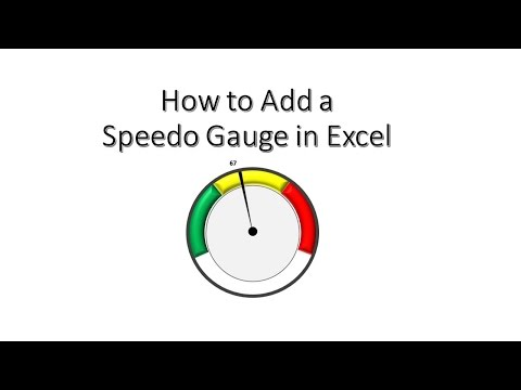Add a Speedometer/Gauge to Excel