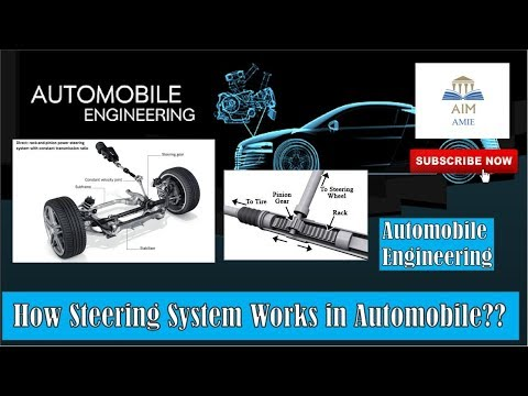 How the steering system works in an Automobile??? / Automobile Engineering / AIM-AMIE