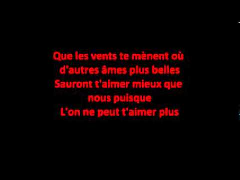 Puisque tu pars Jean Jacques Goldman paroles lyrics YouTube Low