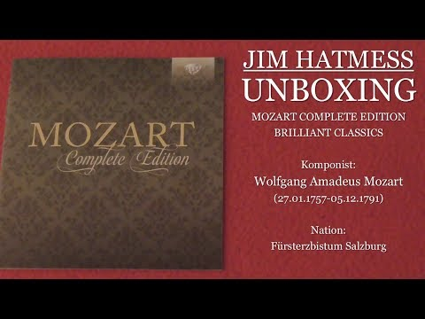 W.A. Mozart Complete Edition (Brilliant Classics) Unboxing Deutsch/German
