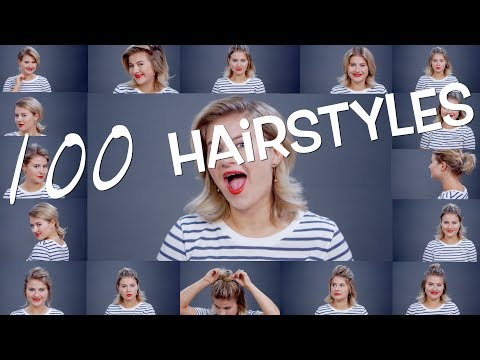 100 1 Minute Short Hairstyles [parody] | Milabu
