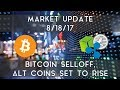 Market Update 8/18/2017 | Bitcoin pullback, alt coins set to rise