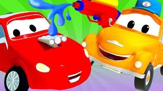 Toms Autowaschanlage -  Sommer Spezial Folge - Sonnenstich - Autopolis 💧 Cartoons für Kinder 🚓 🚒